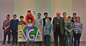 NGA en présence de notre évêque Alain Planet, et les futurs mariés ( Saint Valentin)